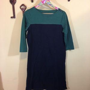 L.L. Bean Blue & Green Dress